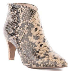 Seychelles Python-Embossed  Leather Bootie 8